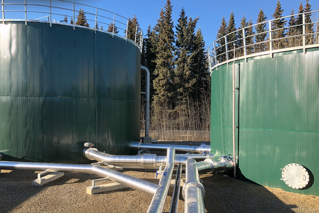 Epoxy-coated water storage tanks
