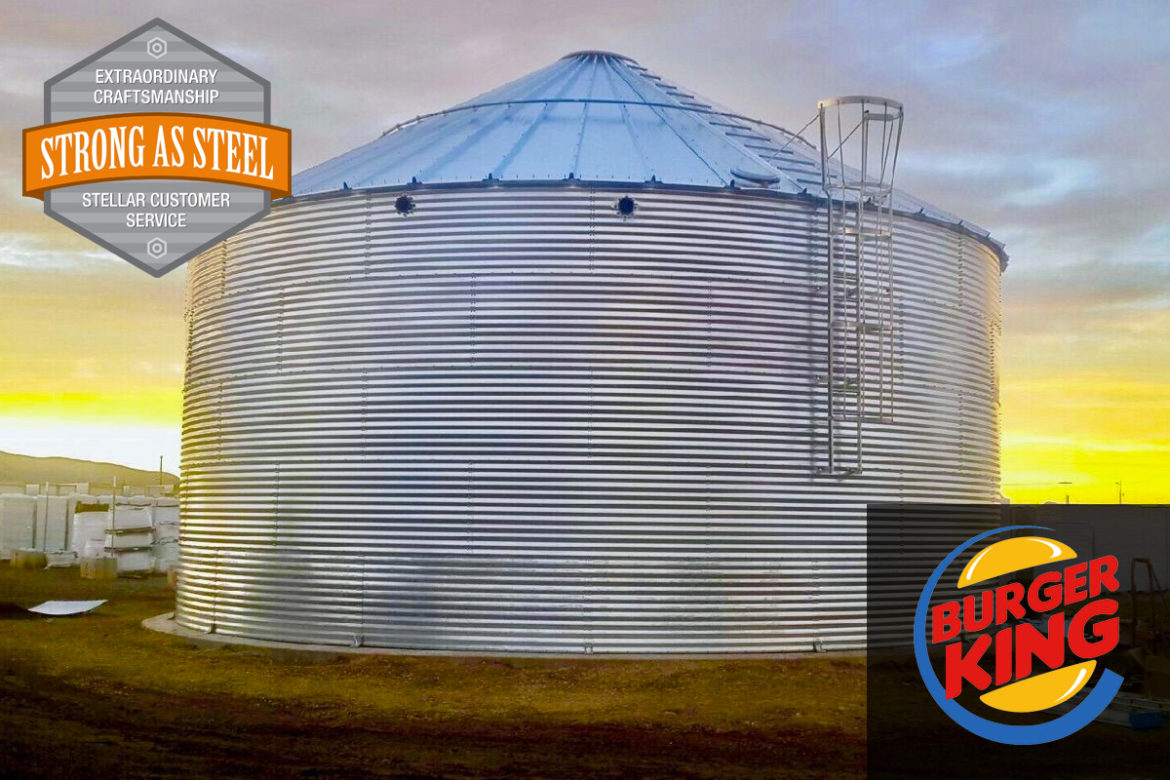 Burger King - 550,000 gallon NFPA 22 Fire Protection Water Storage Tank