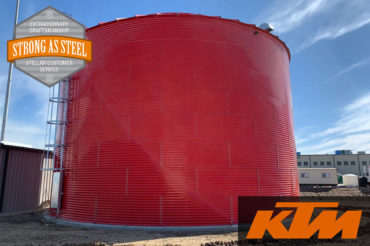 KTM Motor Sports - 350,000 gallon NFPA 22 Fire Protection Water Storage Tank