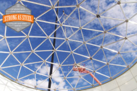geodesic dome roof water tank